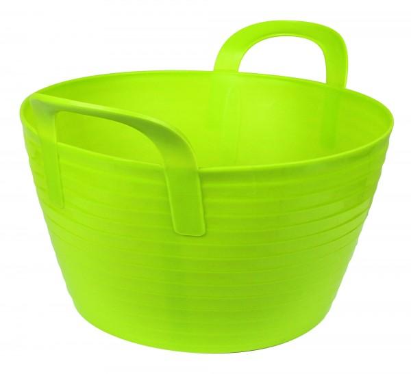 Flexibler Trog FlexBag, Futtertrog mit 2 Griffen in der Farbe grün