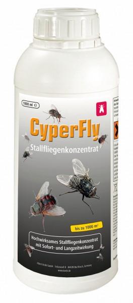 Stallfliegenkonzentrat CyperFly* Insektengift für alle Ställe, Gift gegen fliegendes und kriechendes Ungeziefer