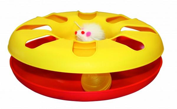 Racing Wheel Geschicklichkeitsspiel für Ihre Katze, mit Spielball und Plüschmaus