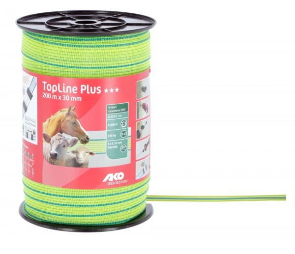 TopLine Plus Weidezaunband neonfarbig, elektrifizierbares Zaunband für Pferde, Rinder und Schafe empfohlen