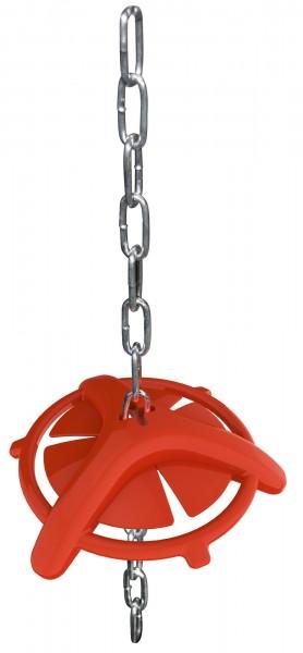 Ferkelbeißring mit Aufhängekette, robuster Beißring aus Kunststoff
