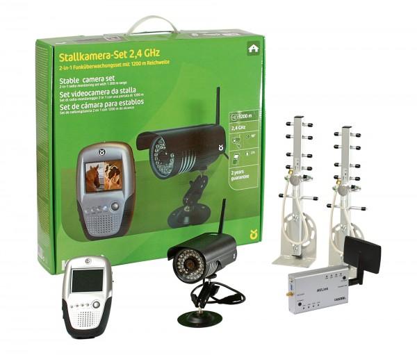 Stall- und Anhängerkamera-Set 2,4 Ghz mit umfangreichem Zubehör
