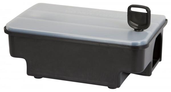 Köderstation Jerry robuste Kunststoffbox zum Mäusefangen, abschließbare Köderstation mit transparentem deckel