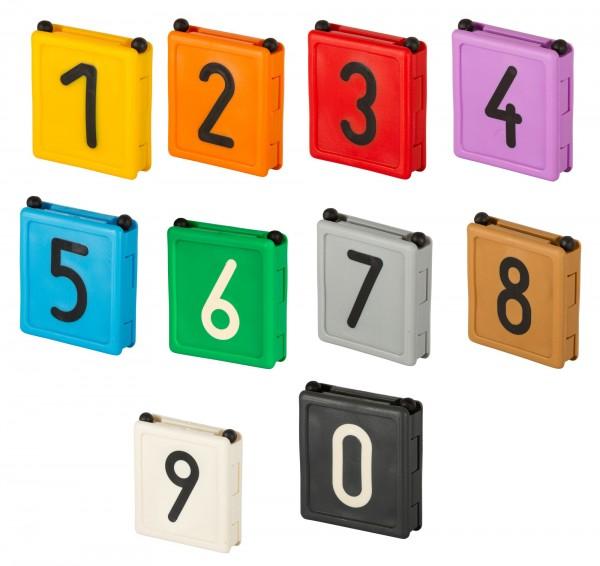 Halsbandnummer Duo zur farblichen Kennzeichnung von Tieren