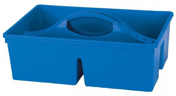 Putzkasten offen aus stabilem Kunststoff mit Tragegriff, blau