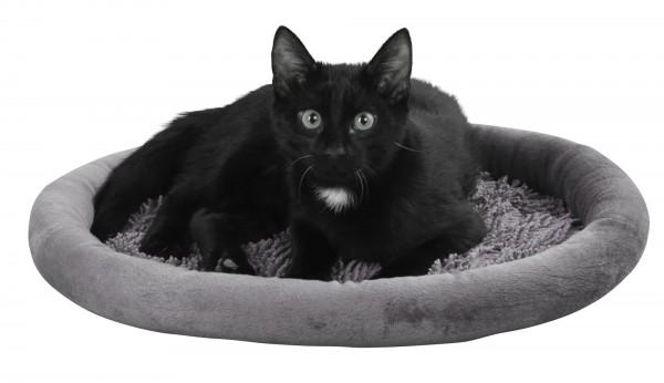 Kuschelbett Sweety, gemütlicher Liegeplatz für Katzen, grau