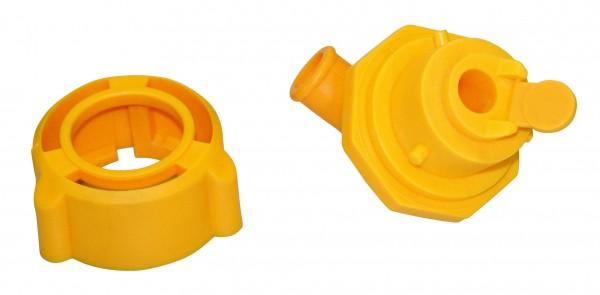 Hygieneventil komplett mit Montageschlüssel und Sauger