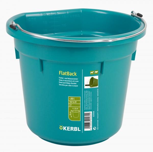 Futter- und Wassereimer FlatBack, 20 Liter-Eimer aus Kunststoff, Farbe aquamarin