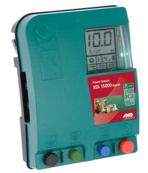 Power Station XDi 15000 digital Vorderansicht des Weidezaungerätes