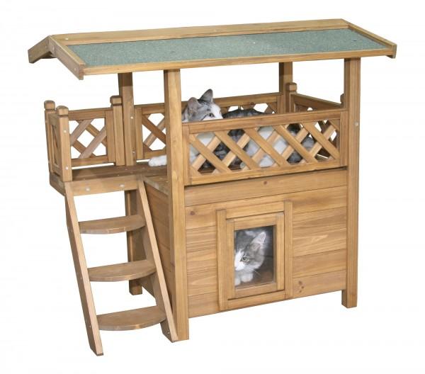 2-stöckiges Katzenhaus Lodge, zum Entspannen für Ihre Katze