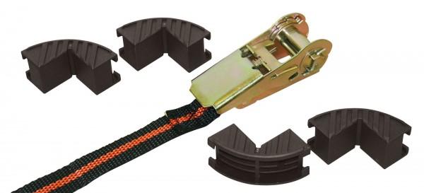 Zurrgurt mit 4 Kantenschutz, aus strapazierfähigem Polyester inklusive 4 Kantenschutz