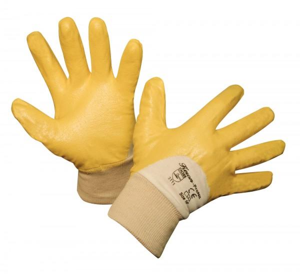 Arbeitshandschuh ProNit, robust und flexibel durch Nitril (gelb) in der Beschichtung