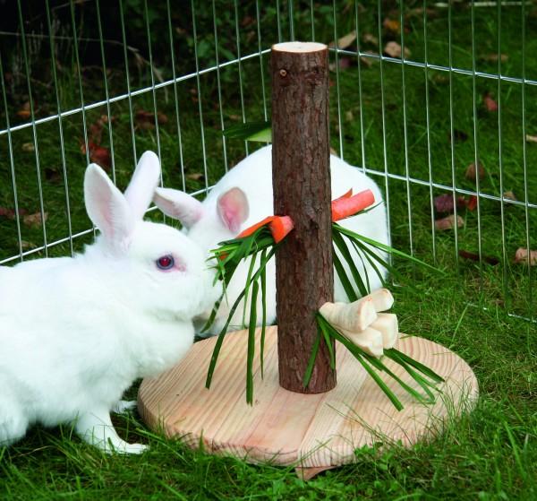 Futterbaum Nature für Abwechslung und macht Spaß, 30 cm hoch, aus Naturholz