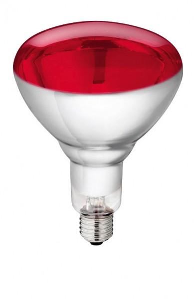 Hartglas-Infrarotlampe von Philips, rot, ist energiesparend und gibt mehr Wärme