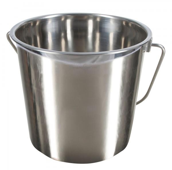 Edelstahleimer ohne Skalierung, 5,7 Liter Inhalt, lebensmittelecht, ideal für Milch