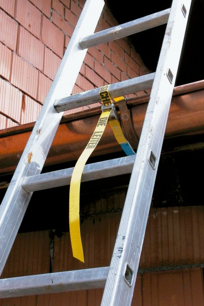 Leiterngurt mit Klemmschloss zur Sicherung ihrer Leiter