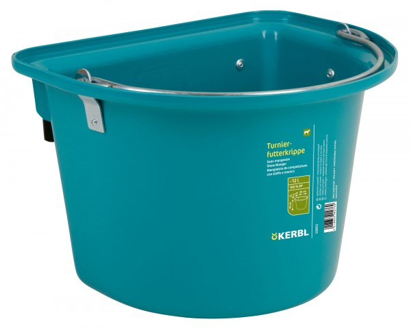 Turnier-Futterkrippe 12 Liter für Futter und Wasser, extrem robust