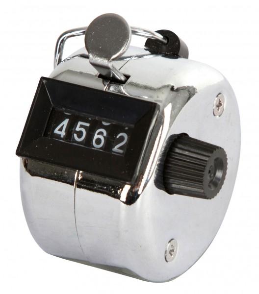 Handtierzähler mit 4.stelliger Anzeige, Metallgehäuse und mit Befestigungsbügel