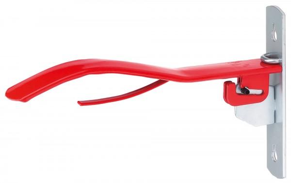 Sattelhalter klappbar aus Metall, rot lackiert, 38 cm lang