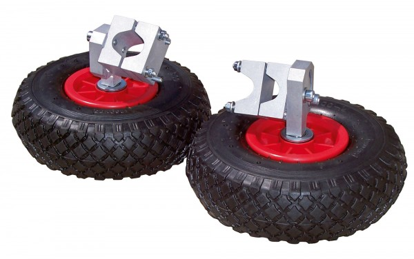 Stützräder für handelsübliche Schubkarren,Anbausatz mit 2 Rädern