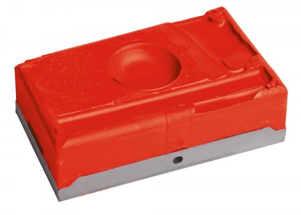 Wachsblock für Bocksprunggeschirr geeignet für Sommer und Winter, Farbe rot