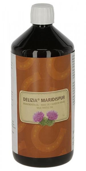 Delizia® Mariendistelöl Einzelfuttermittel für Pferde, 1000 ml