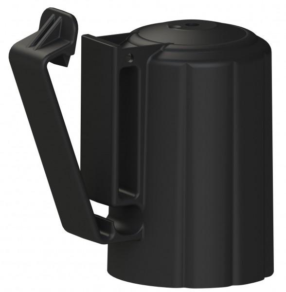 T-Post Kopfisolator aus UV beständigem Kunststoff, Kopfisolator in verbesserter Form, Farbe schwarz