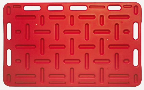Schweine-Treibbrett in rot, äußerst stabil durch eingegossene Vertiefungen