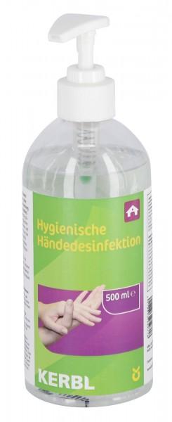 Alkoholisches Einreibepräparat zur schnellen Desinfektion ohne Wasser, 500 ml