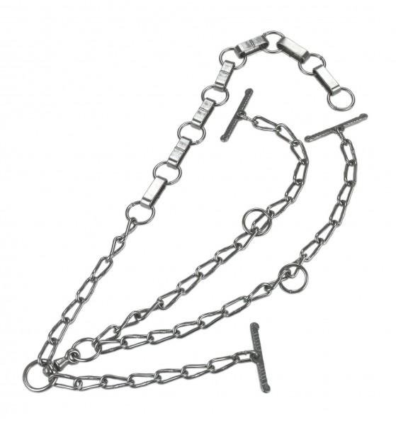 Rinderkette mit Flachgliedern, verzinkt mit Wirbel, Barrenteil, doppelt verlängert