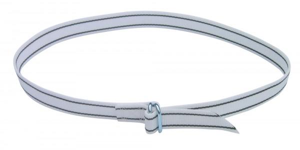 Halsmarkierungsband mit einfachem Ringverschluss, 130 cm lang, weiß/ schwarz