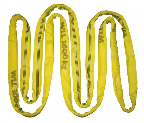 Rundschlingen doppelt ummantelt Farbe gelb, zul. Zugkraft direkt: 3.000 kg