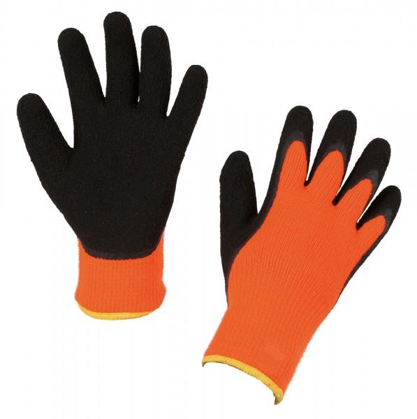 Winterhandschuh IceGrip schützt und wärmt in der kalten Jahreszeit, Handschuhe in orange/ schwarz