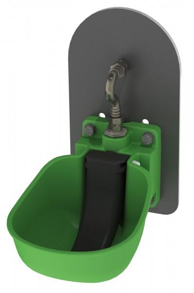 Tränkebecken KN50 mit Adapterplatte für Weidefassanbau