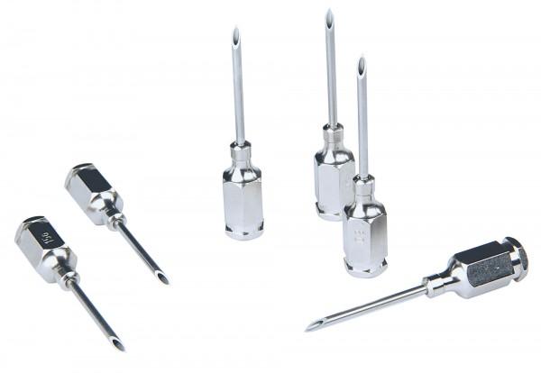 HSW-PREMIUM® Kanüle mit Gewinde-Ansatz, Ø 1,0 bis 1,4 mm