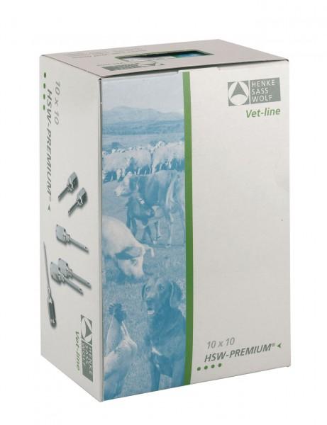 HSW-PREMIUM® Kanüle mit Gewinde-Ansatz, Ø 1,0 x Länge 10 mm