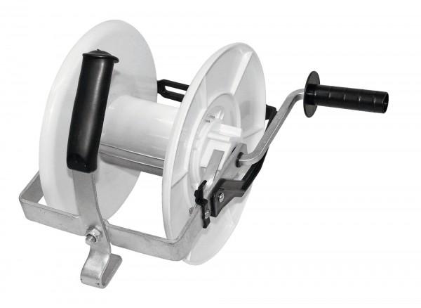 Getriebehaspel 3:1 mit Öse zur gezielten Drahtführung schlagfester Kunststoff für langjährigen Gebrauch