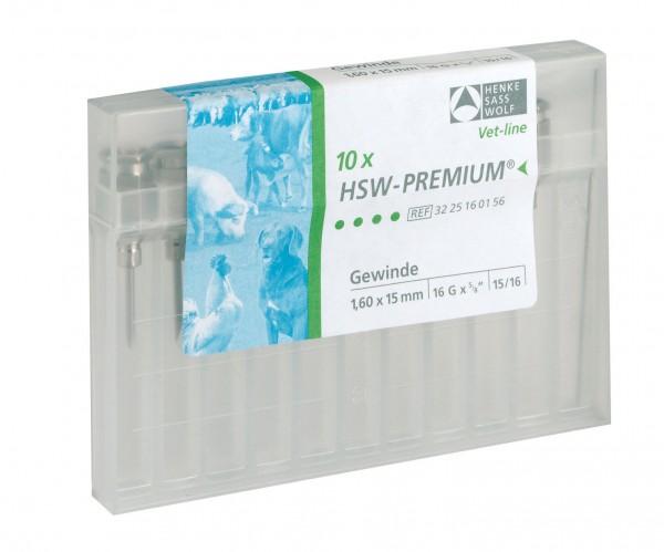 HSW-PREMIUM® Kanüle mit Gewinde-Ansatz, Ø 1,6 x Länge 15 mm