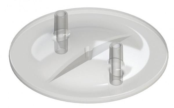 Melkeimerdeckel Stutzen ID 13 mm x AD 17 mm, neue flache Form, QM-Standard