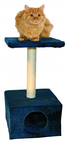 Kratzbaum Amethyst in blau mit 1 Liegefläche, einer Höhle und Sisalsäule, 57 cm hoch