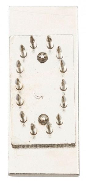 Einsätze mit zusätzlicher Grundplatte, Ziffer einzeln, Schrifthöhe 30 mm