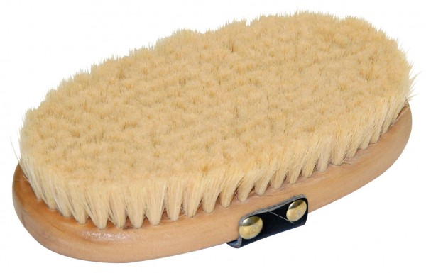 Pferdekardätsche Brush&Co aus Ziegenhaar mit sehr weichen und feinen Ziegenhaaren, 16,5 x 8,5 cm