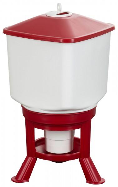 Geflügeltränke Kubic, Tränke mit großem Volumen für Geflügel in Bodenhaltung, leicht zu reinigen, lebensmittelecht