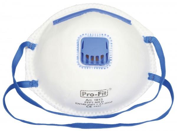 Feinstaubmaske FFP1 NR D mit Ausatemventil, verbindet die Bildung von Feuchtigkeit und erleichtert das Atmen