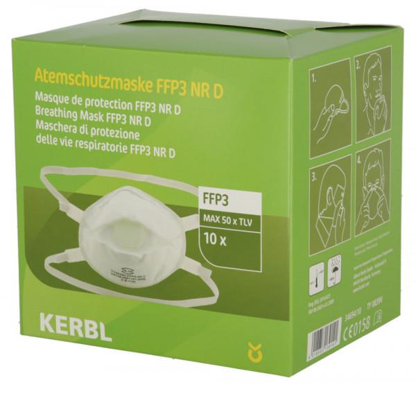Feinstaubmaske FFP3 NR D mit Ventil im 10er Pack