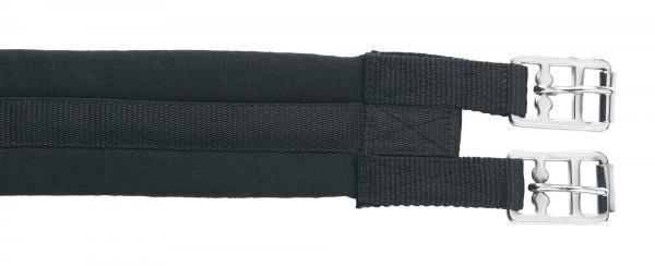 Sattelgurt aus Baumwollmaterial mit Verstärkung und stabilen Schnallen, schwarz