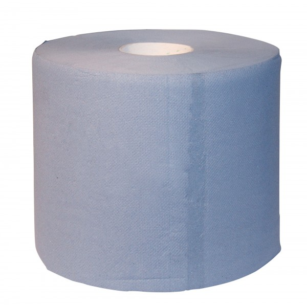Handtuchrolle im 2er Pack, blau, extrem saugstark, lebensmittelecht, universell einsetzbar