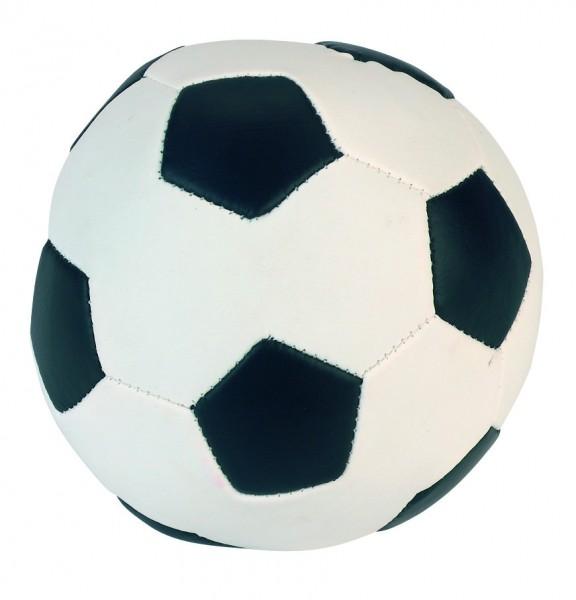 Soft-Soccer-Ball, Hundespielball im klassischen Fußballdesign,3 Stück