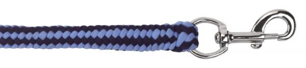 Führstrick Hippo in der Farbe hellblau/ dunkelblau, Führstrick mit Karabinerhaken