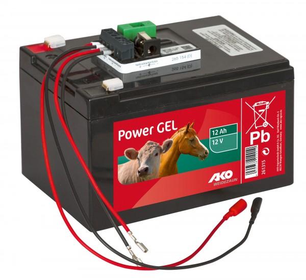 Power AGM 15 Ah Komplettset, 9 Volt / 12 Volt Gel Akku, 12 Ah, Weidezaun-Akku